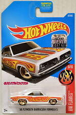 HOT WHEELS 2017 '68 PLYMOUTH BARRACUDA FORMULA S WHITE FACTORY SEALED