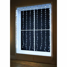 240 LED Waterfall Curtain Christmas Lights - Cool White.