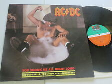 AC/DC You shook me all Night long Atlantic Maxi 1986 Vinyl/ Rare Cover:very good