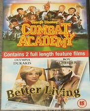 2 MOVIE DVD COMBAT ACADEMY George Clooney & BETTER LIVING Roy Scheider new