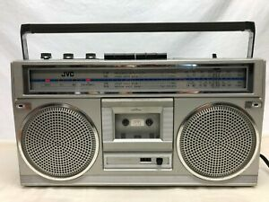 Vintage JVC boombox ghetto blaster radio cassette player - WORKS -  RC 555JW