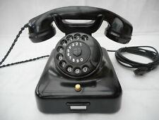 ALTES BAKELIT TELEFON   W48 +  DFG +  1961  +   Wählscheibe + restauriert