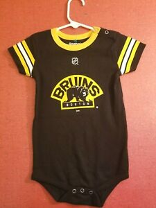 Boston Bruins NHL Reebok Classic Black Team Logo 24mo Infant Bodysuit