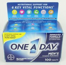 One A Day Mens Complete Multivitamin Multimineral 100 Ct Tablets Exp 04/2021
