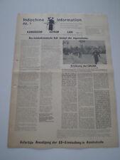 INFORMAZIONI DI INDO-CINESE n° 7 COMUNISMO GIORNALE GERMANY 1975 Vietnam War