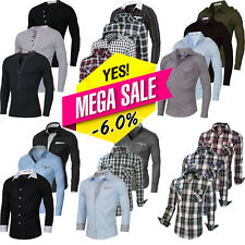 Men's Stylish Casual Luxury Dress Shirt Slim Fit T-Shirt Long Sleeve Formal Tops