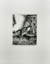 Weber: Aus Igelhausen: Auf der Ofenbank [1980]. Signierte Original-Lithografie.