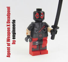 LEGO Custom - Deadpool Agent of Weapon X - Marvel Super heroes mini figure