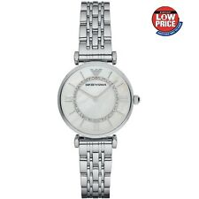 BRAND NEW ARMANI WOMENS WATCH AR1908 MOTHER OF PEARL DIAL GIANNI T-BAR UK