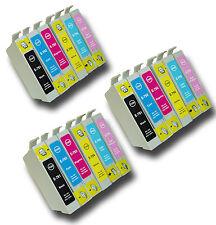 """18 T0791-T0796 """"Hibou"""" non-OEM Cartouches d'encre compatibles avec Epson Stylus 1 500 w"""