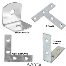 MENDING PLATES BRACES CORNER STRETCHER ANGLE TEE T BRACKETS SMALL LARGE METAL