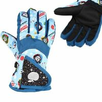 Ski Gloves Boys Girls Warm Windproof Sports Bicycles Riding Snowboard Waterproof