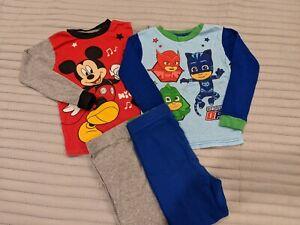 Lots Boy's Sz 5 Disney Characters Cotton Pajamas