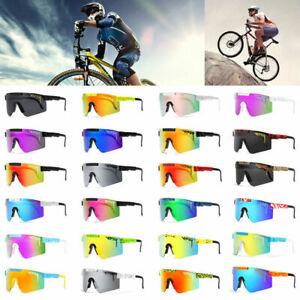 Unisex Radsport-Sportbrille TR90 PIT VIPER Polarisierte Outdoor-Sonnenbrille Neu