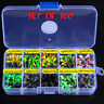 100pcs/Set Lure Lead Head Jig Hooks Fishing Jigging Tackle Fishhook Weight 1g 2g