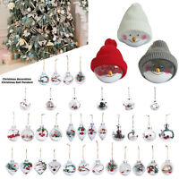 1pc Transparent Hanging Ball Bauble Xmas Tree Pendant Christmas Party Home Decor