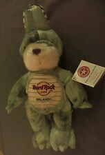 Herrington Hard Rock Cafe Alligator Costume Teddy Bear Plush Orlando Florida NWT
