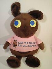 "VHTF Dudleys Plush Chocolate Bunny Rabbit 19"" Save The Bunny Eat Jelly Beans"