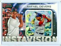 RAFAEL DEVERS 2018 Stadium Club Instavision Rookie SSP Red Sox CASE HIT