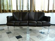 Mid-Century LEATHER SOFA Two-Seater GIRSBERGER Zweisitzer Ledersofa 1973 1970s