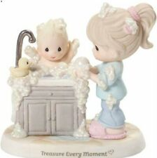 t Precious Moments-Treasure Every Moment-Mom Bathing Baby In Sinkful Of Bubbles