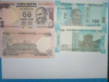 "INDIA PAPER MONEY- 2 ""MG"" NOTES-OLD&NEW-STAR "" * "" SERIES-RS.50/-2012 & 2017#EAB"