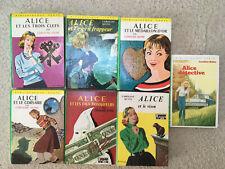 LOT 7 LIVRES BIBLIOTHEQUE VERTE Alice par Caroline Quine
