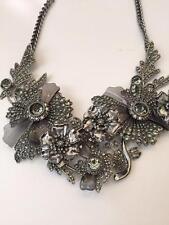 Alexander Mcqueen Swarovski Crystal Embellished Floral Necklace ($2500)