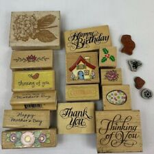 Rubber Stamps Lot Of 14 Some Hampton Art Inkadinkado Plus A Mixture Of Ones