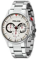 Police Men's Stainless Steel Driver Bracelet Watch.