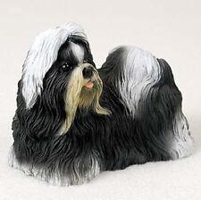 Shih Tzu Hand Painted Dog Figurine Statue Black