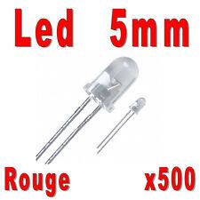 Lot de 500 LED 5mm Rouges 4000mcd