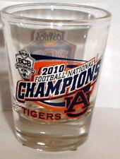 AUBURN TIGERS 2010 BCS NATIONAL CHAMPS champions SHOT GLASS