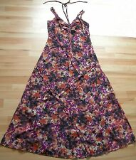 NEXT SIGNATURE SIZE 12 PINK/PURPLE FLORAL MAXI DRESS IMMACULATE