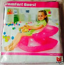 PINK INFLATABLE COMFORT QUEST KIDS COMFI SOFA GAMING SEAT LOUNGE CHAIR COUCH NEW