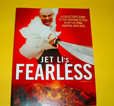 MARTIAL ARTS SPECIAL Original movie program JET LI'S  FEARLESS NICE!