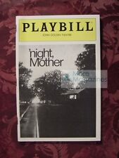 PLAYBILL May 1983 NIGHT, MOTHER Kathy Bates Anne Pitoniak John Golden Theatre