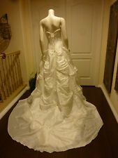 GORGEOUS MAGGIE SOTERRO COUTURE WEDDING  LACE UP CORSET BALLGOWN