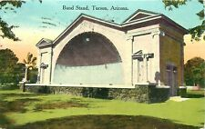 TUSCON, ARIZONA, THE BANDSTAND, VINTAGE POSTCARD