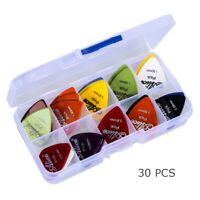 40pcs/box Guitar Picks Acoustic Electric Plectrums Celluloid Assorted Color Case