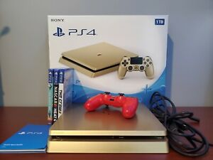 Limited Edition Playstation 4 Slim Gold 1TB / 3 Games Included / Gold PS4
