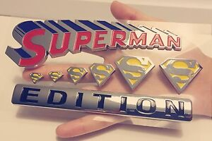 100% SUPERMAN FAMILY EDITION TRUCK Sign EMBLEM LOGO DECAL SIGN FIT ALL CARS