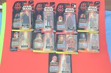 Lot of Nine (9) Hasbro Star Wars Episode I Commtech Chip Figures