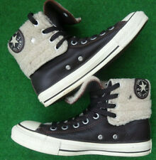 CONVERSE ALL STAR 'CHUCK TAYLOR' LADIES LEATHER TRAINERS UK SIZE 5, EURO 37.5