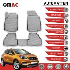 Fußmatten Gummimatten für Opel Mokka 2012-2019 3D Passform Hoher Rand Grau