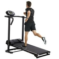Folding Manual Treadmill Working Machine Cardio Fitness Exercise Incline Home