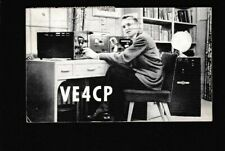 Canada Manitoba WINNIPEG used 1958 QSL radio card VE4CP to London