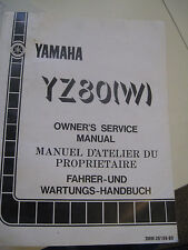 1989 Yamaha YZ80 W : Factory Service Manual