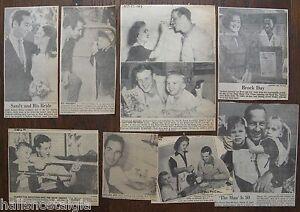 Eight Vintage Newspaper Clippings (Baseball) Sandy Koufax, Stan Musial, L. Brock