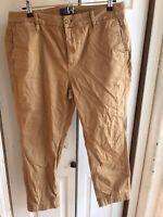 Men's J Crew Tan Chino Khaki Pants Casual Flat Front RARE Size 32